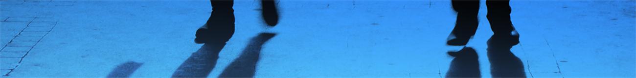 Walking shadows blue
