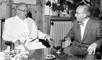 Samuel Wynn with President Ben Zvi of Israel, 1963