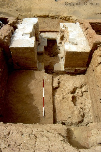 East Gateway of the West Temple Complex after excavation, facing west