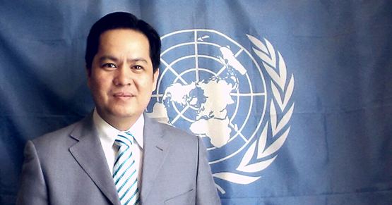 Dr. Noel Villaroman at the UN