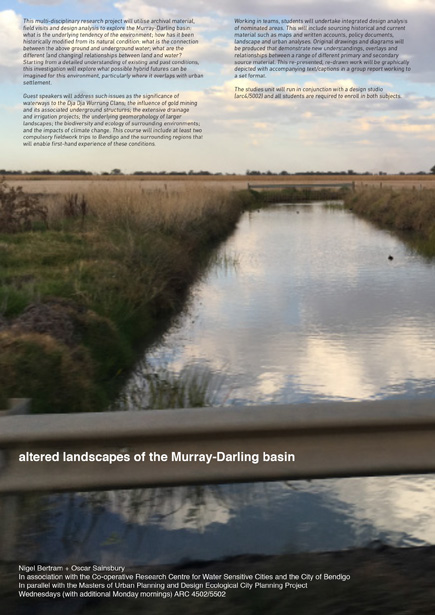 Altered Landscapes of the Murray-Darling Basin