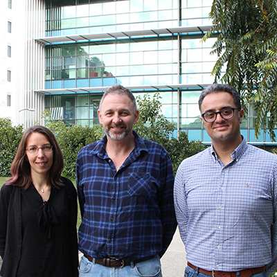 L-R: Dr Asolina Braun, Professor Anthony Purcell and Dr Pouya Faridi