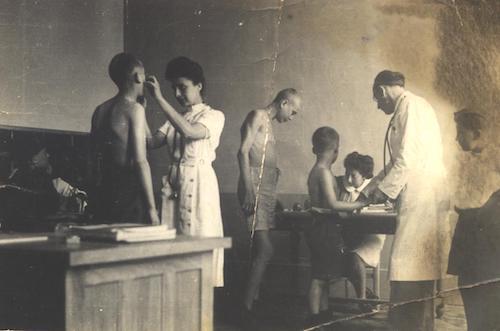 Andre Z in medical unit after liberation. Courtesy A Zelig.