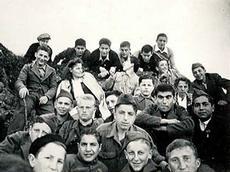 Buchenwald children in Switzerland. Gabriel R (row 1, 2nd right) and Ben E (row 2, 2nd right).