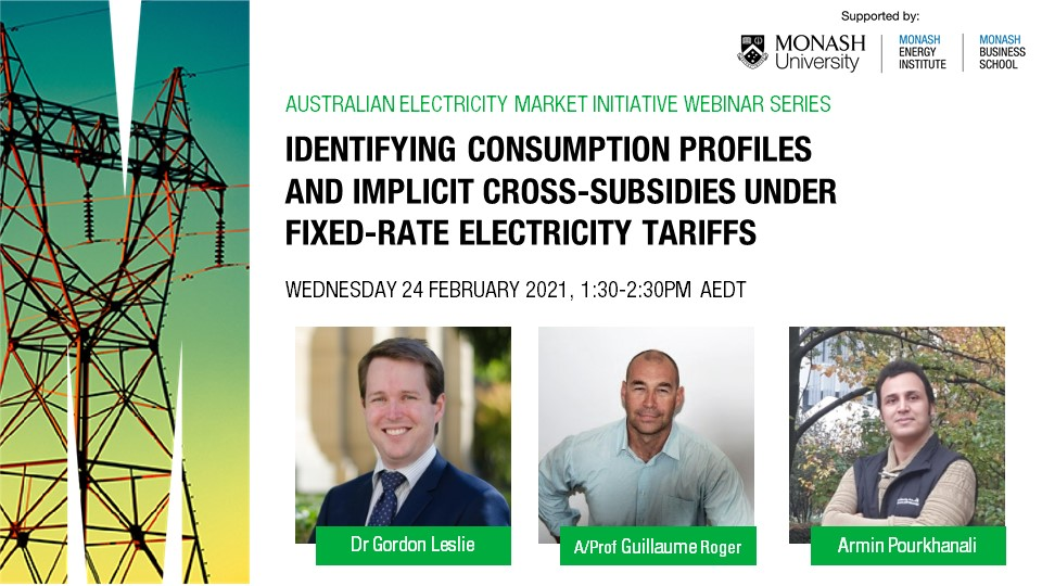 Webinar | Identifying consumption profiles and implicit cross-subsidies under fixed-rate electricity tariffs