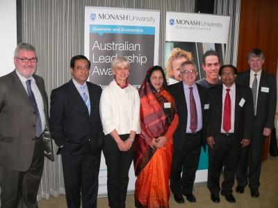 From Left: Professor Ian McLoughlin, High Commissioner Masud Uddin Chowdhury, Professor Stephanie Fahey, Mrs Nazreen Akhter, Professor Owen Hughes, Dr Quamrul Alam and Associate Professor Ken Coghill