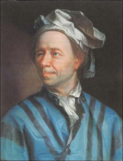 Leonhard Euler (Basel, 1707 - St Petersburg, 1783)