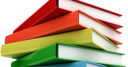 a pile of colourful books