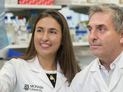 Dr Eliana Marino and Professor Charles Mackay