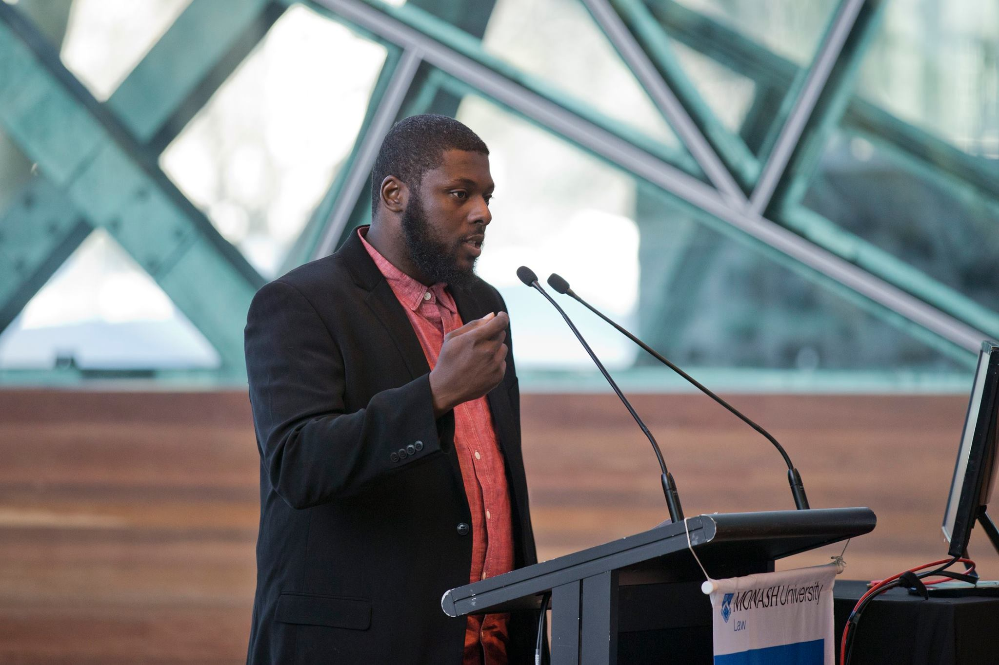 Tory Russell speaking at the 2016 Castan conference
