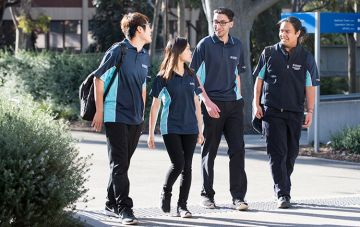 Occupational therapy students walking
