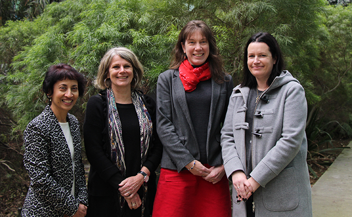L-R: Dr Nirma Samarawickrema, Professor Janet Macaulay, Dr Julia Choate and Dr Caroline Speed. Not pictured: Dr Klaudia Budzyn and Dr Daniel Czech.
