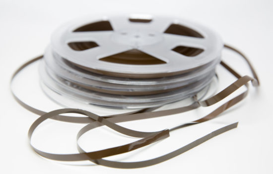 Two of MAMU's reel-to-reel audio tapes