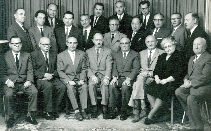 Kadimah committee with visiting Yiddish poet Abraham Sutzkever, 1961