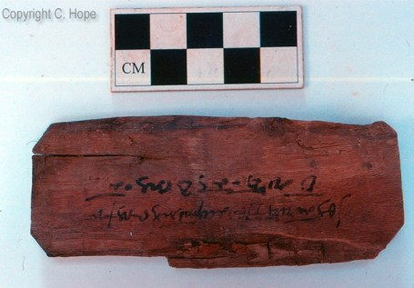 Inscribed wood from C/2/6