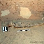 An adult burial in Room 1.