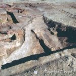 View overlooking the probable entrance to C/2/4 showing the kilns in the northwest corner.