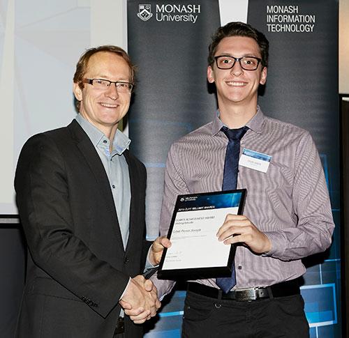 Caleb Joseph accepting award