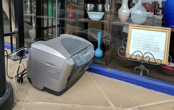 E-Waste printer
