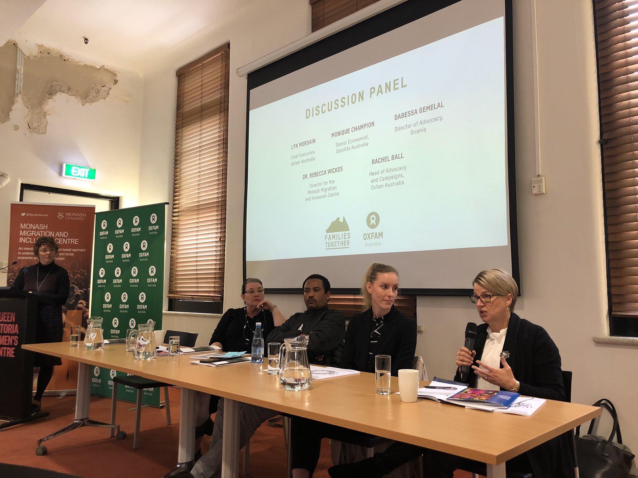 MMIC researchers launching Oxfam-Monash report