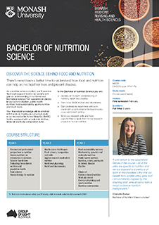 Bachelor of Nutrition Science flyer image