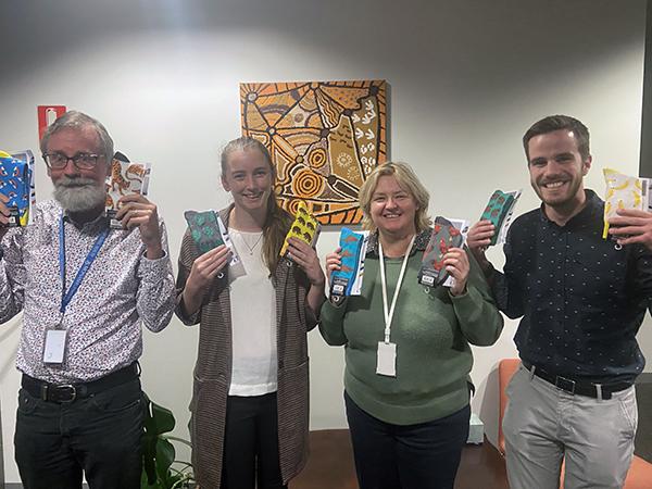 Monash Rural Health staff and students celebrate Crazy Socks 4 Docs Day