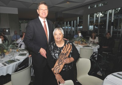 Premier Ted Baillieu and Aunty Joan Vickery AO, Photo: Wayne Quilliam