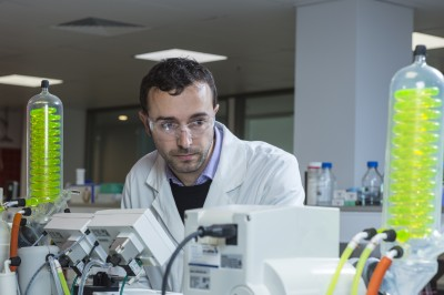 Dr David Valade, research scientist from PolyActiva, at work in the CoE labs