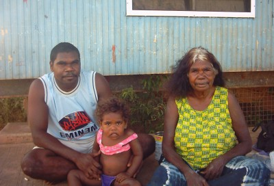 Dinah Norman, Lanceton Norman and Sharnie Norman. Photo: John Bradley