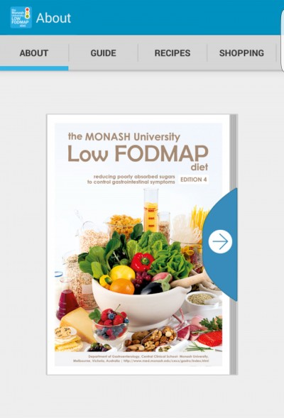 The initiative comes on the back of a recent success in developing the Low FODMAP diet app (screenshot pictured) which has been downloaded thousands of times.