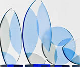 Image of award trophies