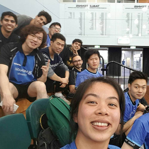 Monash University table tennis team