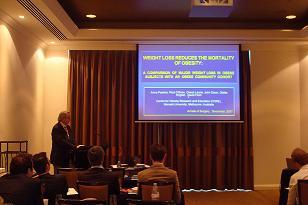 Prof Paul O'Brienteaching a basic course in laparoscopic adjustable gastric banding