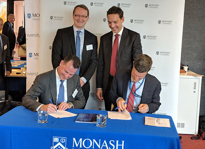 Monash Honeywell Collaboration Signing