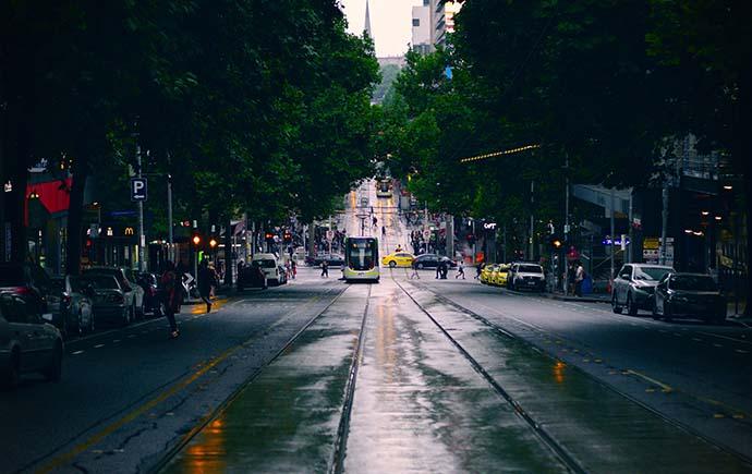 Image: tram in Melbourne