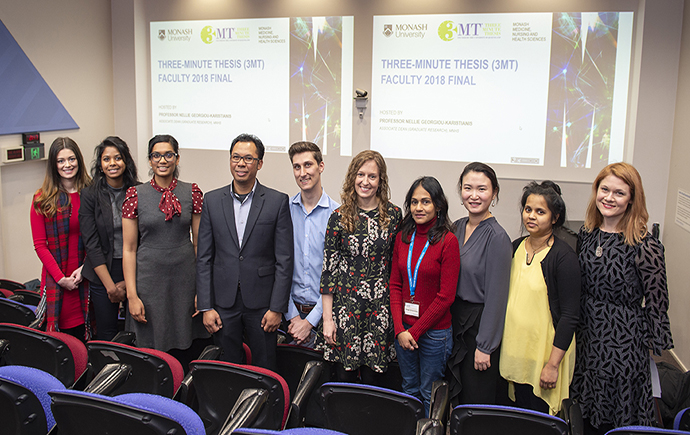 Monash Medicine, Nursing and Health Science Three Minute Thesis Finalists