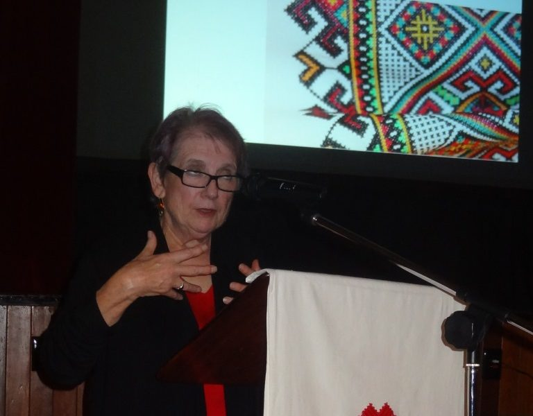 Canadian author Myrna Kostash spoke on the encounter of Ukrainian Canadians with the First Peoples of Canada