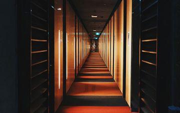 Monash residential hall hallway