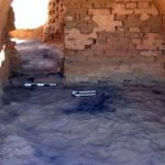 One of the vaulted rear rooms, post-excavation.