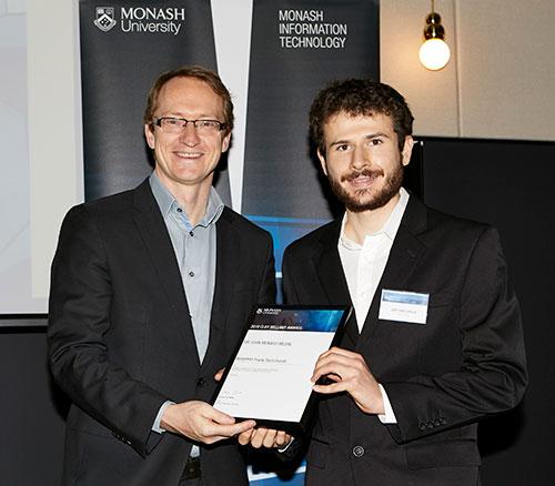 Benjamin Ramcharan accepting award