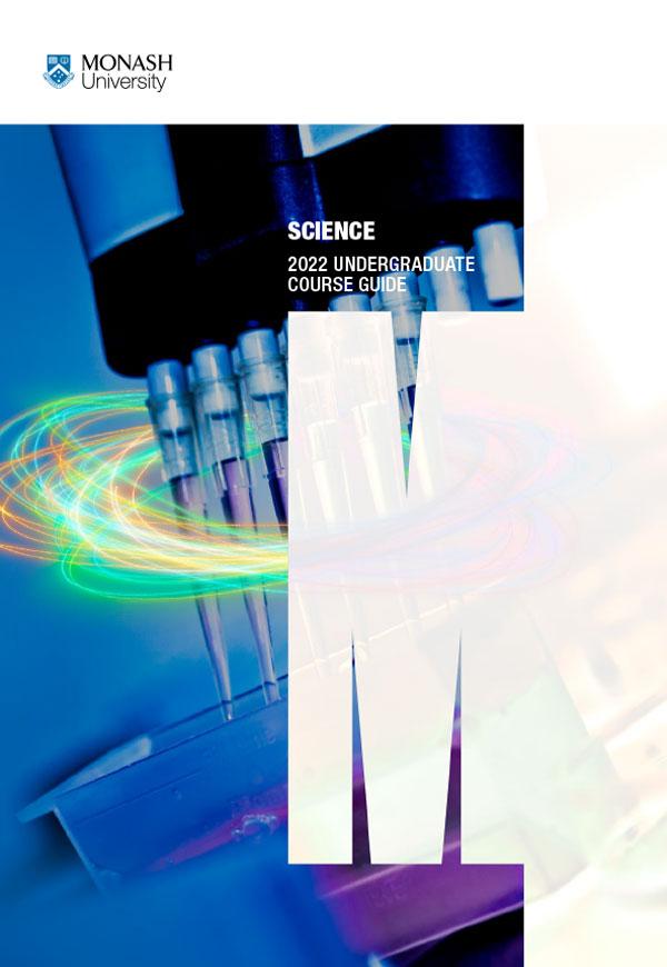 monash science undergraduate course guide cover
