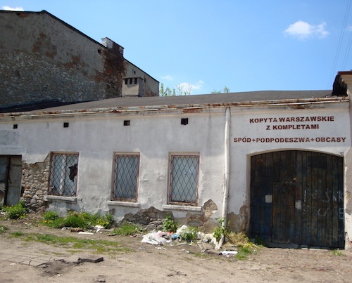 To avoid deportation to Treblinka death camp, Salek R together with his father hid here for three weeks. Czestochowa Small Ghetto circa 2011.