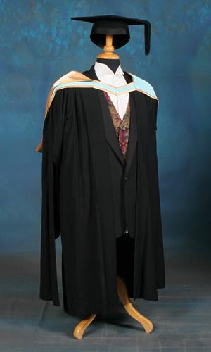Masters level academic dress
