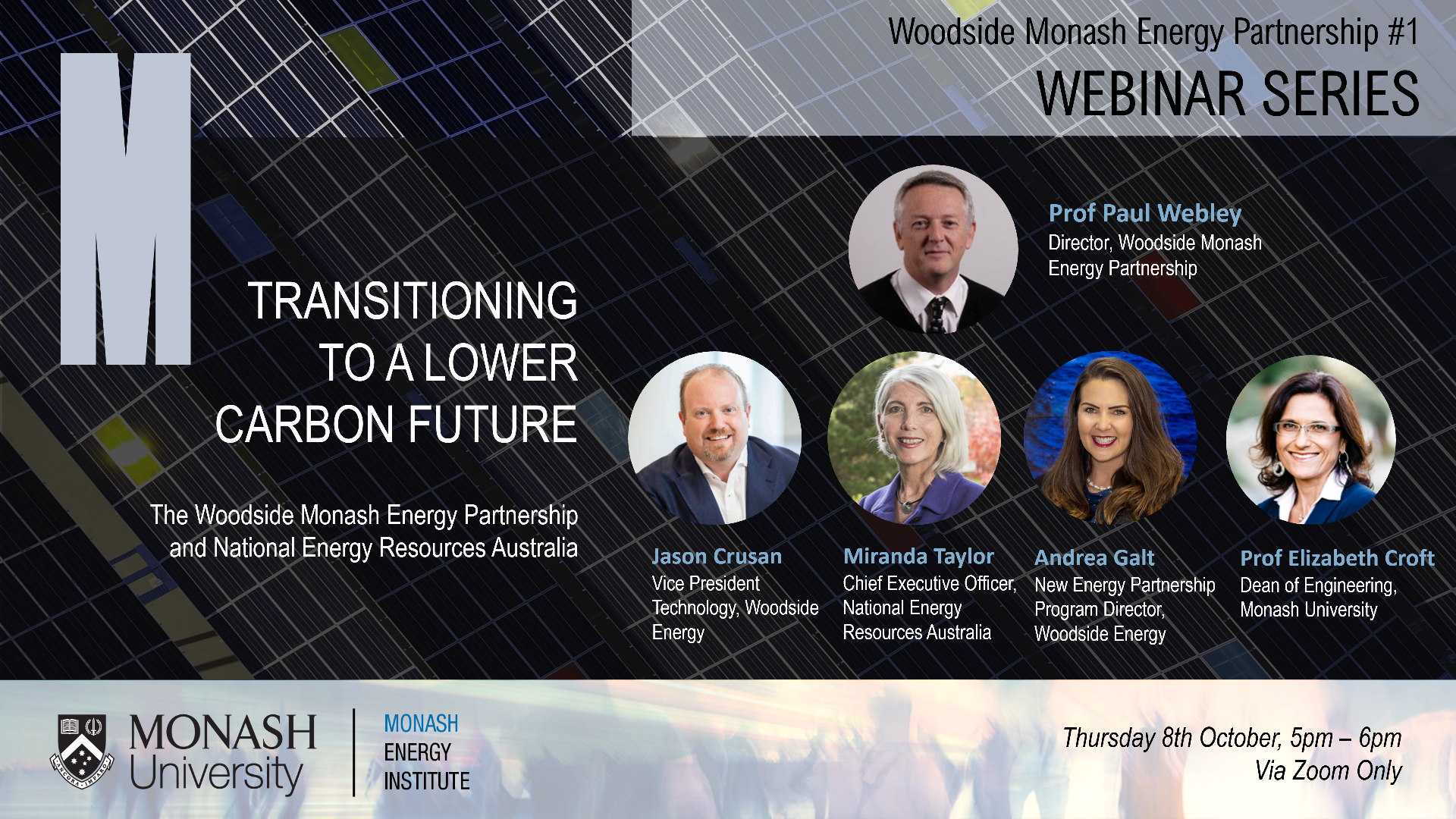 Transitioning to a lower carbon future. The Woodside Monash Energy Partnership a...