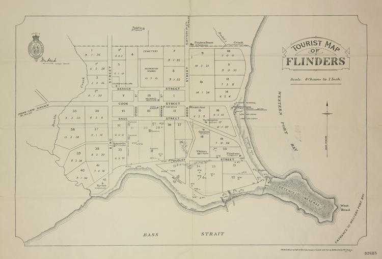 Tourist map of Flinders