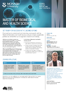 Master of Biomedical and health science