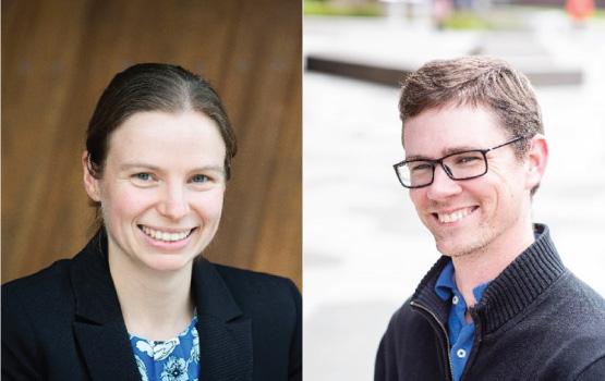 L-R: Monash BDI and EMBL Australia researchers, Dr Jennifer Payne and Associate Professor Max Cryle.