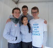Monash University Science Student volunteers at Open Day 2014