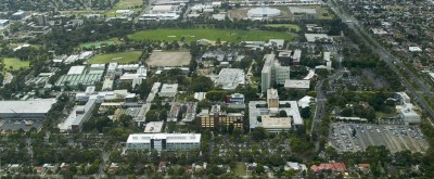 Aerial view of the Clayton grounds