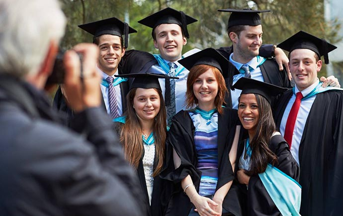 Graduating Monash Business School students
